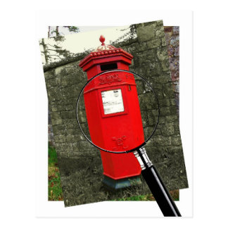 Victorian Postbox - Berkeley Castle Postcard
