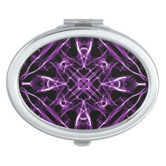 Victorian Purple Fractal Pattern Compact Mirror