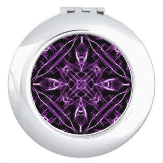 Victorian Purple Fractal Pattern Travel Mirrors