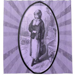 VIctorian purple lady showercurtain