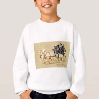 Victorian Retro Vintage Easter Greetings Sweatshirt