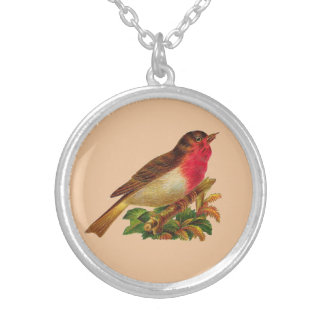 Victorian Robin Redbreast Necklace