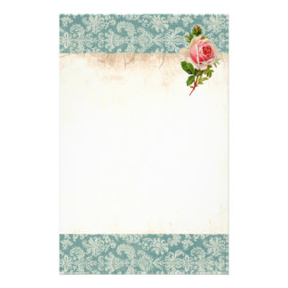 Victorian Rose and Damask Stationery