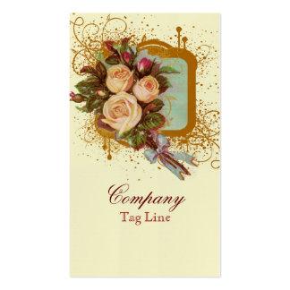 Victorian Rose Bouquet Elegant Business Cards
