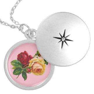 Victorian Rose Locket Necklace