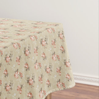 Victorian Rose Pattern Tablecloth
