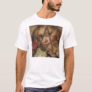 victorian rose pentagram image T-Shirt