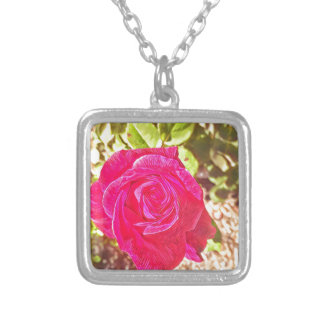 Victorian Rose Silver Plated Necklace