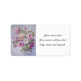 Victorian roses address labels