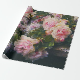 Victorian Roses and Lilacs Wrapping Paper