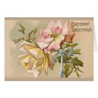 Victorian Roses Birthday Greeting Card