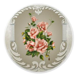 Victorian Roses Ceramic Knob