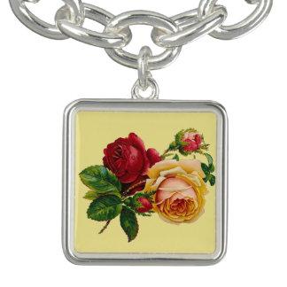 Victorian Roses Charm Bracelet