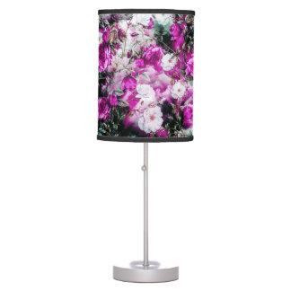 Victorian Roses Floral pink purple white black Desk Lamp