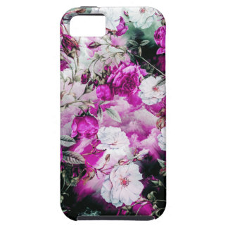Victorian Roses Floral pink purple white black iPhone 5 Case