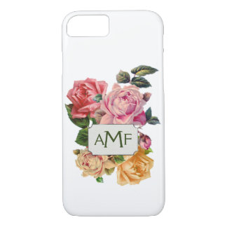 Victorian Roses & Monogrammed Label iPhone 8/7 Case