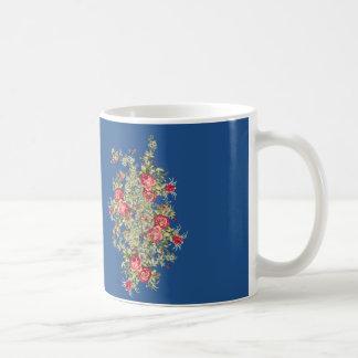 Victorian Roses Basic White Mug