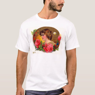Victorian Roses Painting Board Mother's Day Card T-Shirt