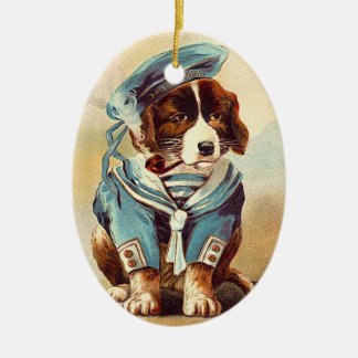 Victorian Sailor Dog Christmas Ornament