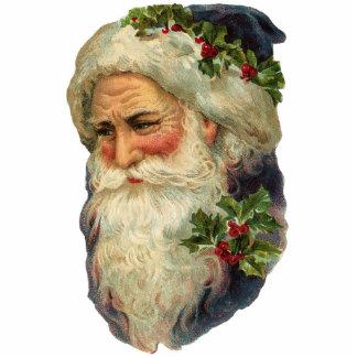 Victorian Santa Christmas Ornament Photo Sculpture Ornament