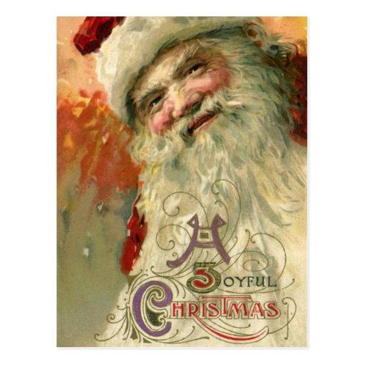 Victorian Santa Claus Portrait, A Joyous Christmas Postcard