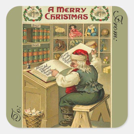 Victorian Santa Gift Tag