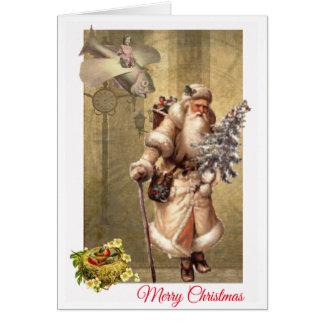 Victorian Santa with a steampunk twist Card