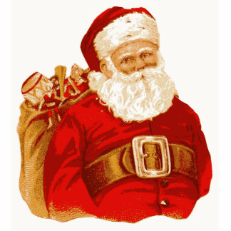 Victorian Santa with bag of toys Photo Sculpture Ornament