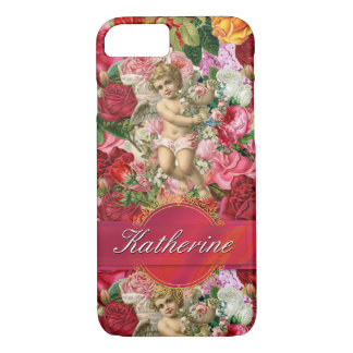 Victorian Scrapbook Personalised Ribbon Wrapped iPhone 8/7 Case