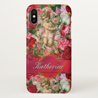 Victorian Scrapbook Personalised Ribbon Wrapped iPhone X Case