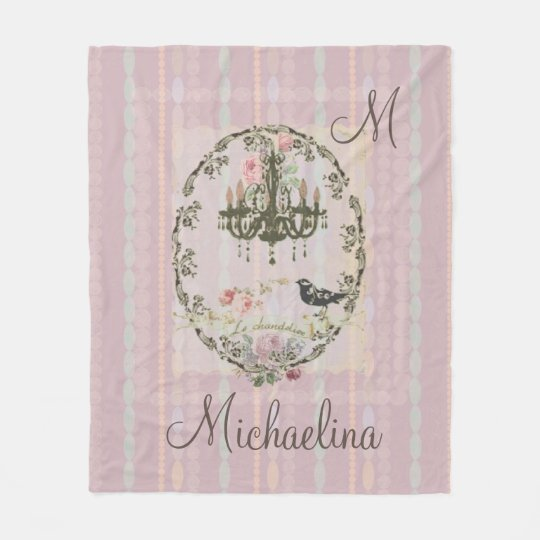 Victorian Shabby Chic Pearls Chandelier Blanket