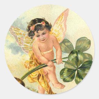 Victorian Shamrock Faeries Stickers