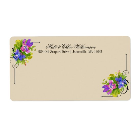 Victorian Shipping Labels with Floral Accents