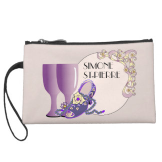 VICTORIAN SHOES Sueded Mini Clutch Bag