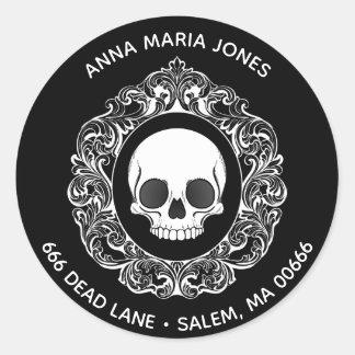 Victorian Skull Address Label