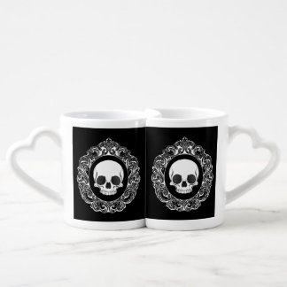 Victorian Skull Cameo Coffee Mug Set