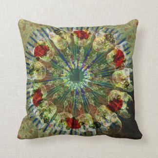 Victorian Skull Mandala Throw Pillow
