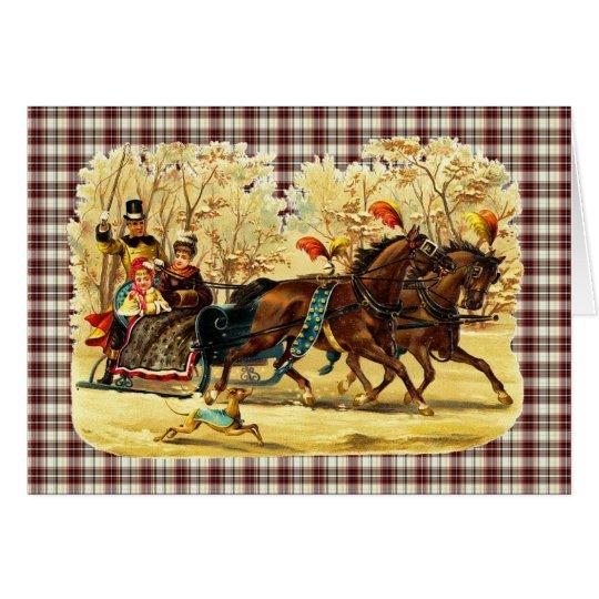 Victorian Sleigh Ride Christmas Card