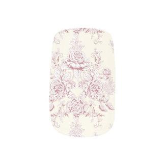 Victorian,soft yellow, soft pink,floral,pattern,vi minx nail art
