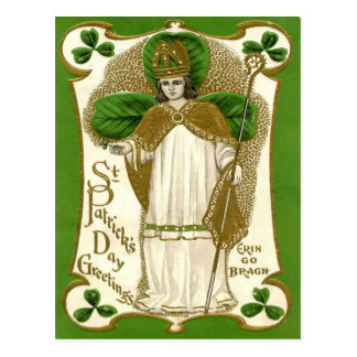 Victorian St Patrick's Day Postcard