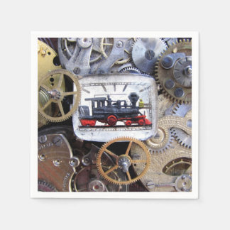 Victorian Steam Train Steampunk party dining Paper Napkin