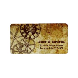 Victorian Steampunk (Gears) Wedding Address