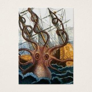 Victorian Steampunk Kraken Octopus Sea Creature Business Card