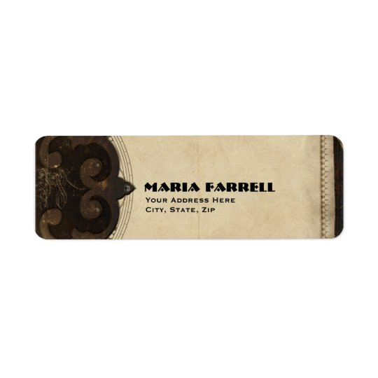 Victorian Steampunk Return Address Labels