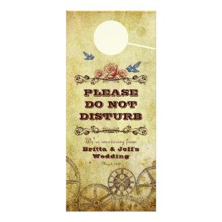 Victorian Steampunk Wedding Bedroom Door Hanger Customized Rack Card