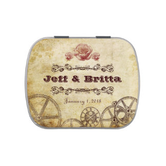 Victorian Steampunk Wedding Candy Jelly Belly Candy Tins