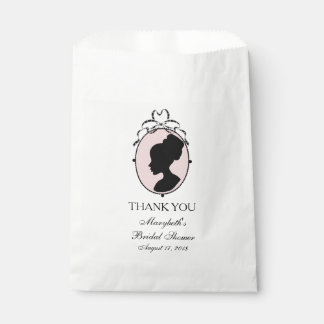 Victorian Style 60s Cameo Bridal Shower Favour Bag