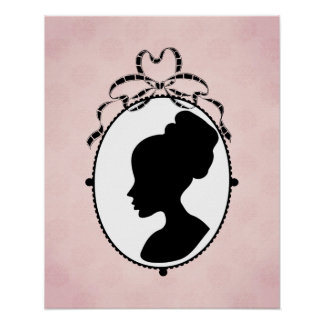 Victorian Style 60s Cameo Poster