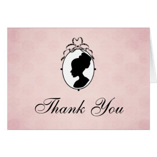 Victorian Style Cameo Thank You Card