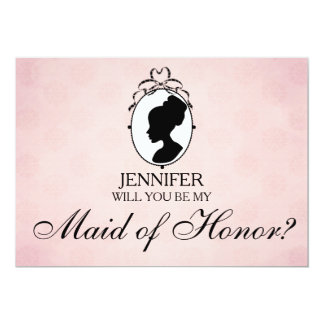Victorian Style Cameo Will You Be My Maid of Honor Card